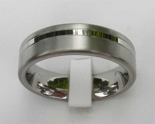 2 tone titanium wedding ring