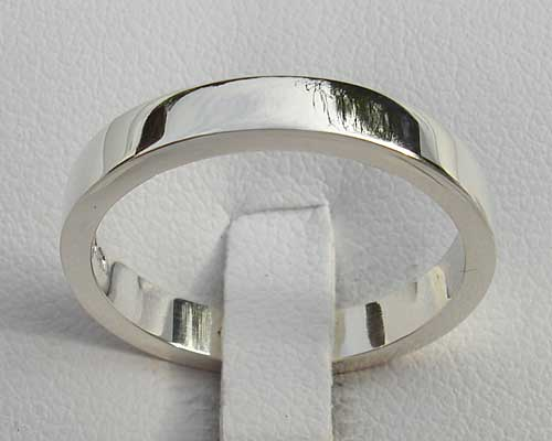 Flat Profile Plain Silver Ring