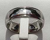 Affordable modern titanium wedding ring