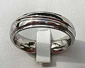 Affordable titanium wedding ring