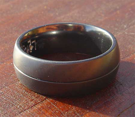 All over black ring