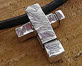 Men's alternative cross necklace