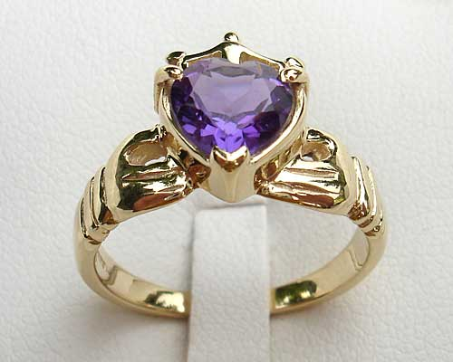Heart Claddagh Engagement Ring