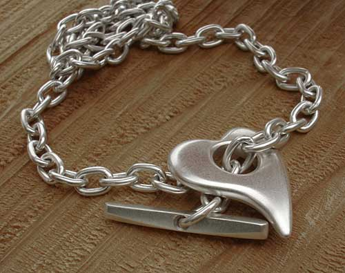 Love2have Unique Sterling Silver Heart Bracelet For Women