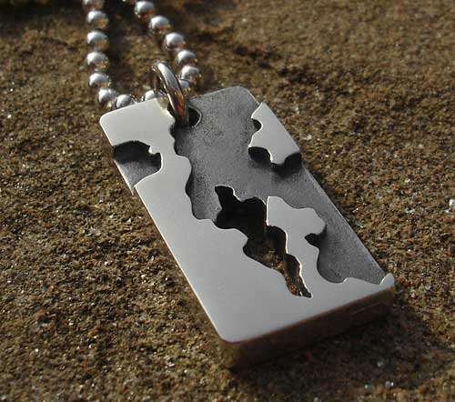 Army Camouflage Mens Designer Necklace