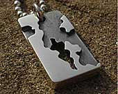 Army camouflage men's necklace