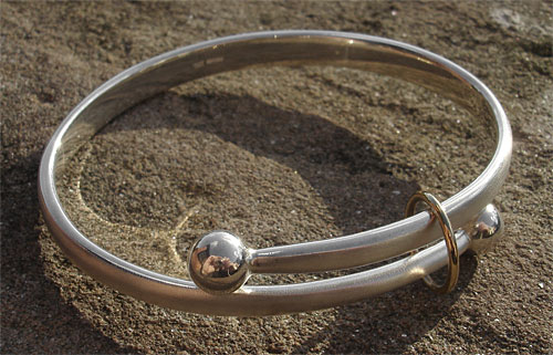 Beautiful gold and silver bangle