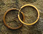 Beige titanium full hoop earrings