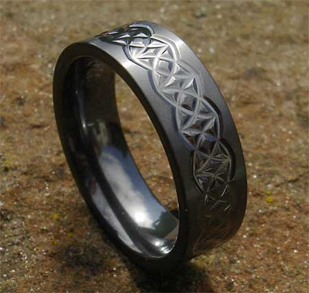 Mens Celtic Black Gothic Wedding Ring LOVE2HAVE in the UK