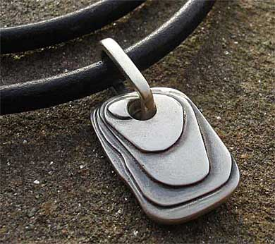 Contemporary mens silver pendant love2have in the uk this contemporary mens necklace and pendant is a handcrafted piece of jewellery made here in the uk from the collection of jewellery for men influenced aloadofball Choice Image