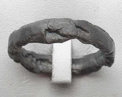 Blackened silver ring