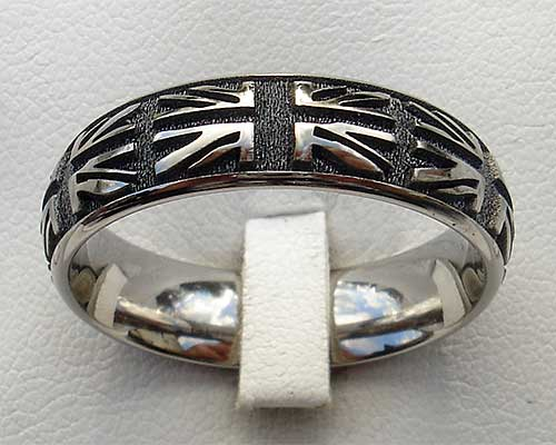 British Union Jack Titanium Ring