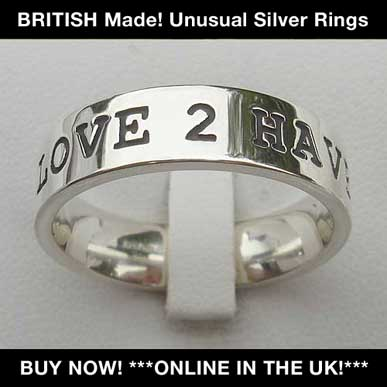 british silver rings