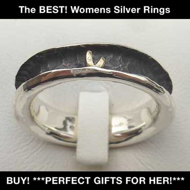 british womens silver rings
