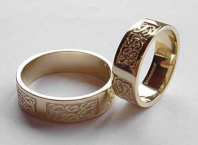 Celtic gold wedding rings