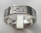 Celtic titanium ring engraved with Celtic animals