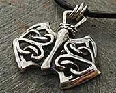 Celtic axe necklace for men