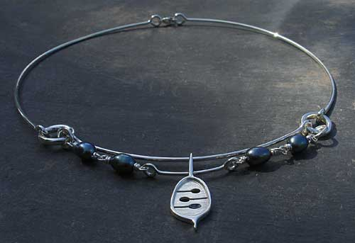 Womens Contemporary Celtic Necklace