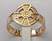 Scottish Celtic cross Ring
