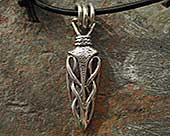 Celtic dagger necklace