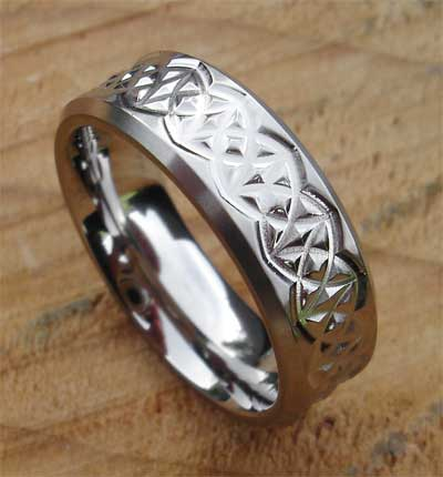 Titanium Celtic ring
