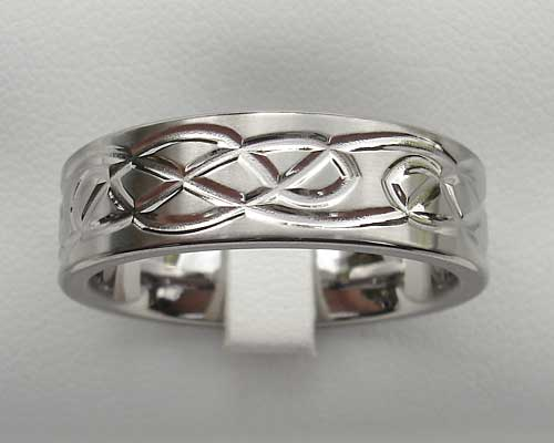 Celtic titanium ring for men with Celtic detail