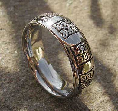 Celtic domed profile titanium ring