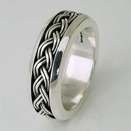 Celtic interlaced silver ring
