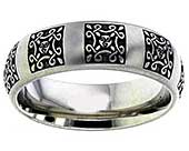 Celtic Pagan titanium wedding ring