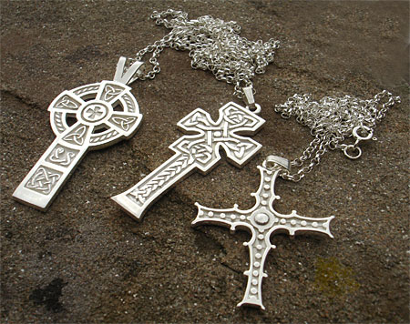 Celtic silver crosses