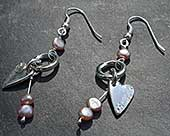 Celtic silver drop earrings