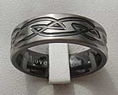 Size W Modern Celtic Wedding Ring