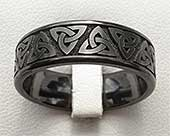Mens Celtic wedding ring with a Gothic design