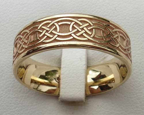 Gold Celtic Wedding Ring