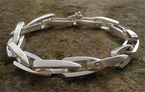 Chunky Designer Silver Bracelet Love2have In The Uk