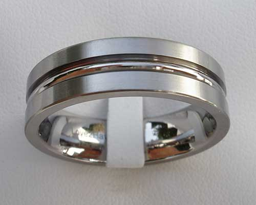 Mens Chunky Titanium Wedding Ring