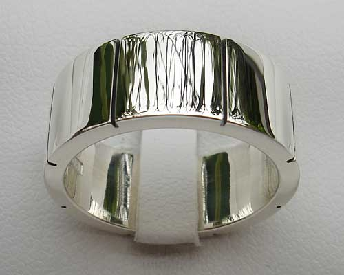 Chunky Silver Ring For Men
