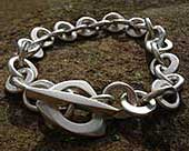 Chunky sterling silver chain bracelet