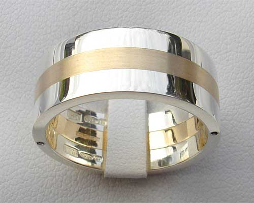 Chunky Gold And Silver Wedding Ring LOVE2HAVE in the UK