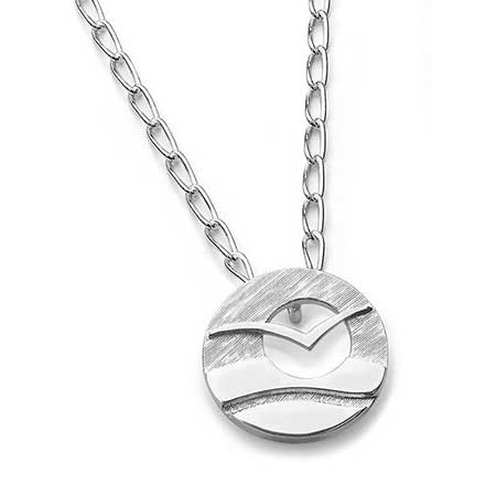 Surf sterling silver necklace