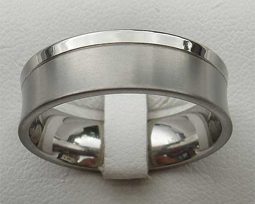 Concave Titanium Wedding Ring