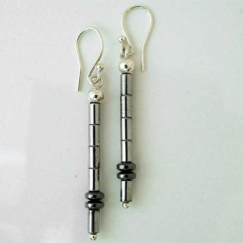 Contemporary Crystal Drop Earrings
