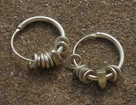 handmade silver hoop earrings love2have in the uk