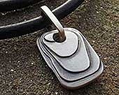 Contemporary men's silver pendant