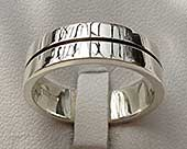 UK made contemporary silver ring for men