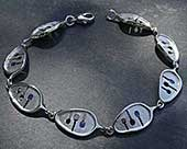 Contemporary silver Celtic bracelet