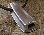 Contemporary silver pendant for men