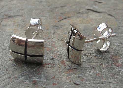 Contemporary Silver Earrings