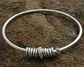 Contemporary sterling silver bracelet