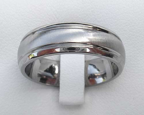 Contemporary Titanium Wedding Ring